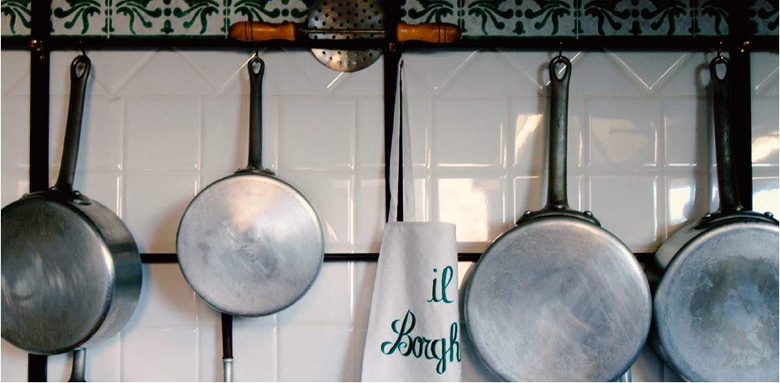 The kitchen of Il Borghetto Country Inn and Winery Azienda Agricola